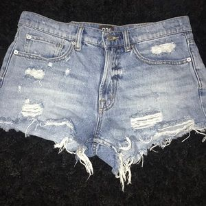 Urban outfitters mid rise jean shorts